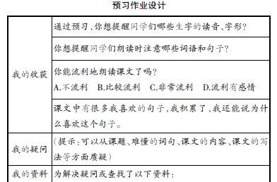 小学高段语文有效预习探究